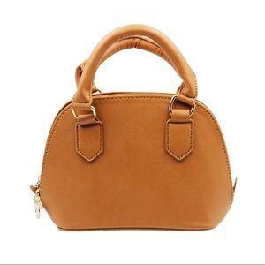 Khaki faux leather wallet small purse